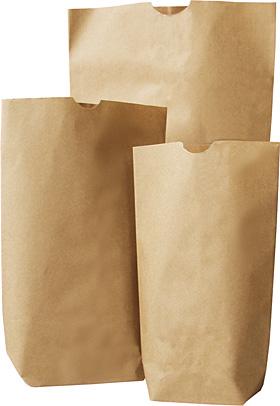 Bodenbeutel 1-lagig, braun, Natronkraftpapier 70 gr/m²