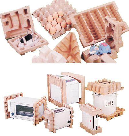 Formteile aus Faserguß und Recyclingpapier