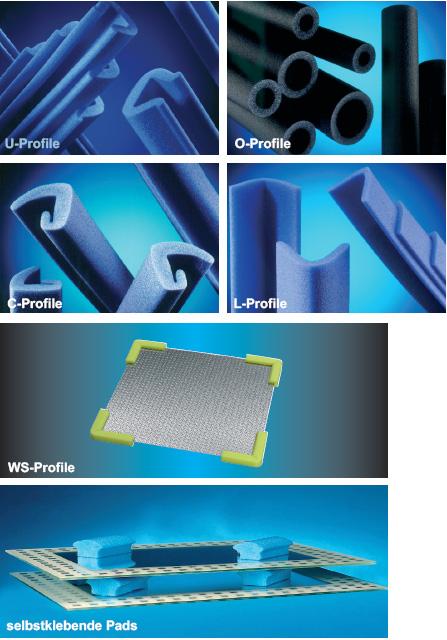 Kantenschutzprofile aus Polyethylen