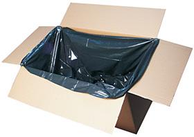 LDPE-Seitenfaltensäcke Regenerat grau