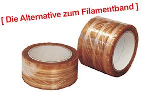 PP-Packband mit Polyesterfäden
