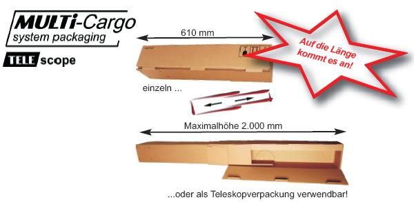 Teleskopverpackung
