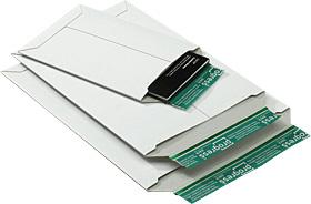 Versandtasche aus stabiler Vollpappe, braun oder weiß