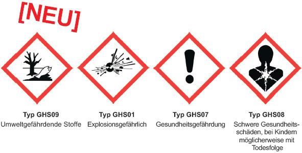 Neue Warnsymbole